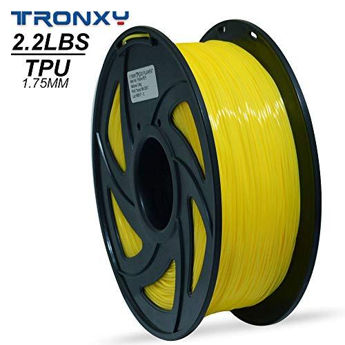 3D Flexible Yellow TPU Filament 1.75 mm, 2.2 LBS (1KG) Material: TPU