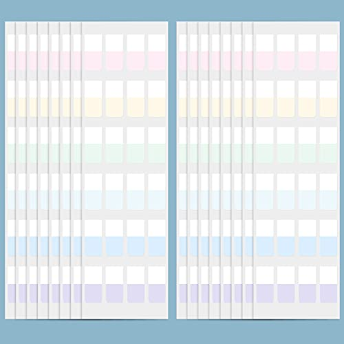 Sticky Index Tabs Adhesive Flag Tabs Colored Page Markers Repositionable Writable File Tabs for Books Notes Documents Paper Filer Folders, Multi-Color (960 Pieces)
