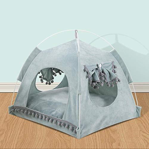 Zwinger Hundebett Tragbares Faltbares Haustier Hundezelt Haus Atmungsaktiver Druck Haustier Katzenhaus Mit Netz Outdoor Indoor Mesh Katze Kleines Hund Zelt Haus XL 6