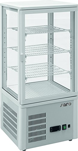 Saro 323 – 3200 SC 78 recirculación nevera vitrina, 77 L, color blanco