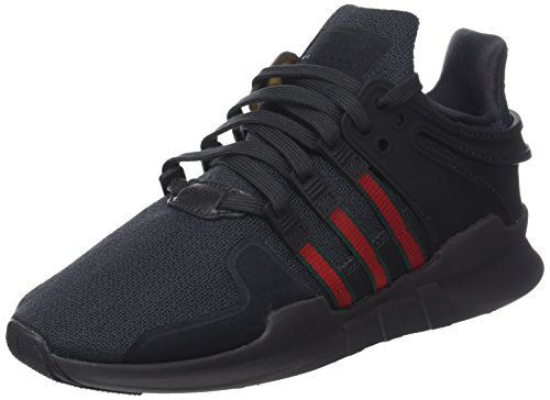 adidas Men's EQT Support Adv Fitness Shoes, Black (Utility Black F16/Scarlet/Collegiate Green), 4 UK