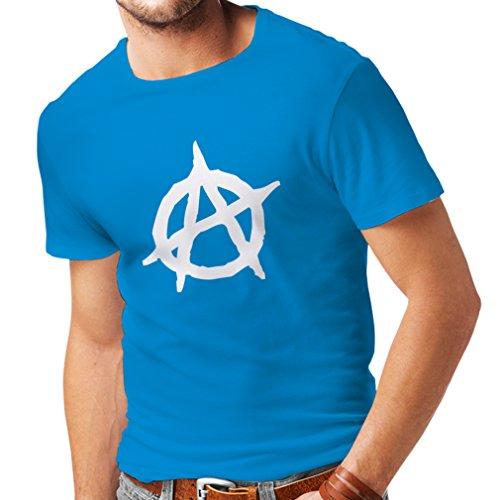 lepni.me Camisetas Hombre Símbolo anarquista, diseño político anarquista, Monograma anarquista