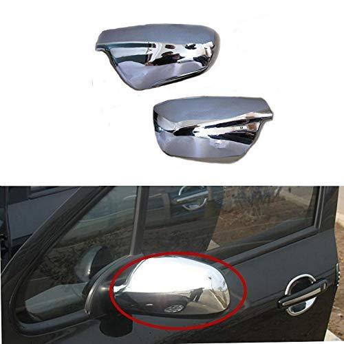 Espejo retrovisor lateral de puerta para espejo retrovisor lateral cromado para 307 CC SW 407 2004-2012 accesorios estilo coche (2 piezas)