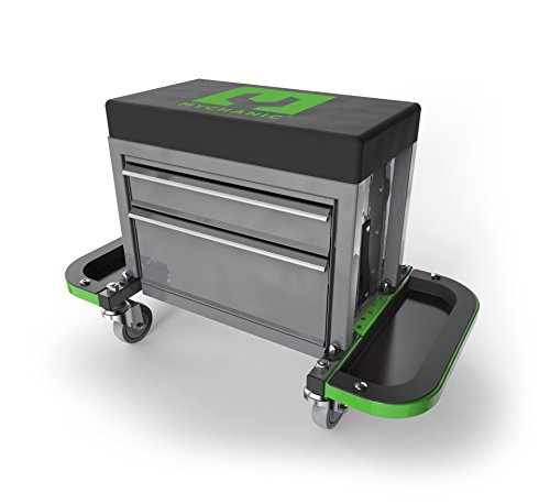 Sidekick Stool Steel Frammed Rolling Toolbox, Portable tool box with wheels