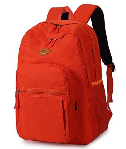 Abshoo Classical Basic Womens Travel Backpack For College Men Water Resistant Bookbag (Orange)