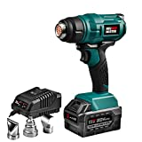 Cordless Heat Gun, NEU MASTER NHG0050 Lithium-ion Battery Hot Air Gun Kit with Charger and Rechargeable Battery, 3 Metal Nozzle Attachments for Crafts, Shrink Wrapping, Phone Repairing, Tube Bending