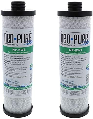 WaterPur KW1 depot lowest price Replacement RV Water Filter by Neo-Pure 2-PK NP-KW1