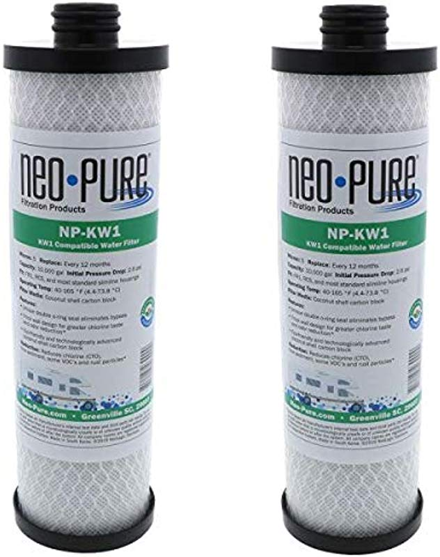 Neo Pure WaterPur KW1 Replacement RV Water Filter NP KW1 2 Pack