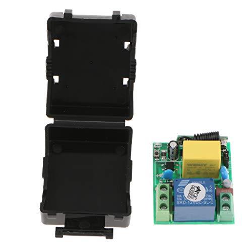 MagiDeal 433 MHz Ac220v LED sans Fil Télécommande Interrupteur Transmetteur Relais Récepteur