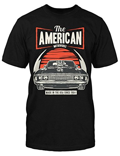 American Muscle T-Shirt Old School Rockabilly Hot Rod Oldtimer Cars