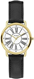 Guess Dress Watch for Women, Stainless Steel Case, White Dial, Analog -W1285L2