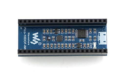 Coolwell Waveshare 10-DOF IMU Sensor Module for Raspberry Pi Pico, Onboard ICM20948 9-Axis Motion Sensor and LPS22HB Chip Stackable Header Design