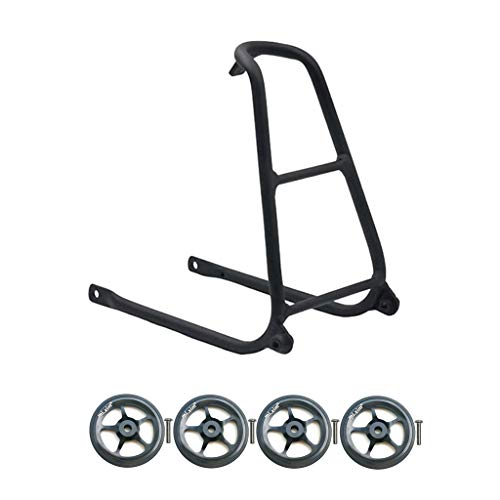 MagiDeal Portabicicletas Y Easywheel Easy Wheel para Brompton Cycling Cargo Rack