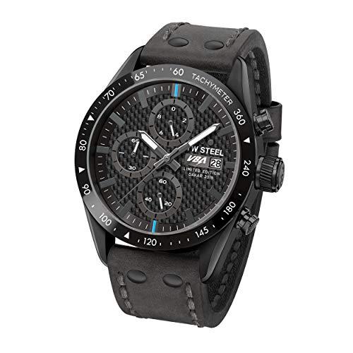 TW Steel Unisex Volwassenen chronograaf kwarts horloge met lederen armband TW997