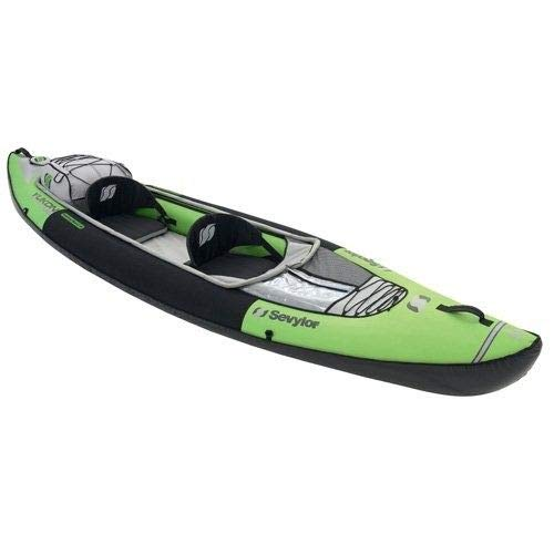 Sevylor - Kayak Inflable Yukon KCC380, 2 plazas, color verde y negro
