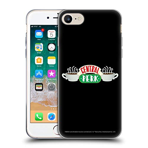 Official Friends TV Show Central Perk Logos Soft Gel Case Compatible for Apple iPhone 7 / iPhone 8 / iPhone SE 2020