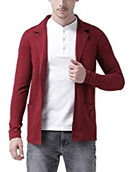 Tinted Mens Cotton Blend Blazer Cardigan