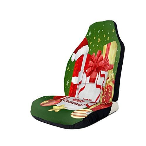 DISADI Feliz Navidad Divertida Funda de Asiento de Coche Funda de cojín de Coche Compatible con la mayoría de los Accesorios de Interior de Coche de Moda Funda de Asiento (Juego de 2)