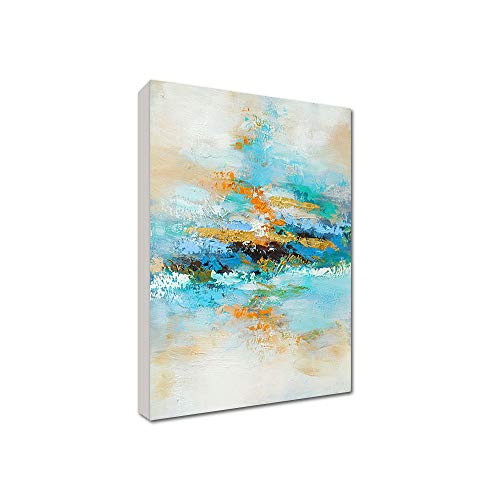 FajerminArt 100% Pintura al óleo Pintada a Mano - Pintura al óleo Realista Paisaje Lienzo Pintura decoración de Pared para Sala de Estar Marco estirado Listo para Colgar