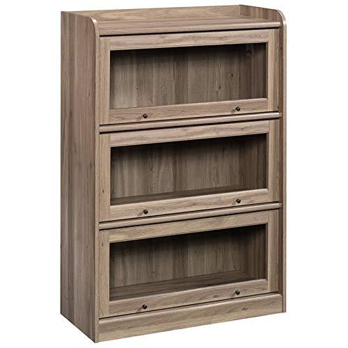 oak bookcase glass doors - 7