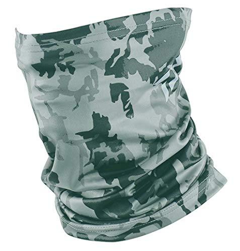 グレー系迷彩 ランニング マラソン フェイスマスク 夏 UV 吸汗速乾 日よけ 多機能 メンズ レディース バフ BUFF タイプ
