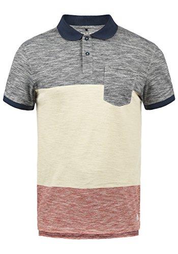 Blend Johansus Herren Poloshirt Polohemd T-Shirt Shirt Mit Polokragen 100% Baumwolle, Größe:M, Farbe:Mood Indigo (74648)