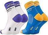 Rainbow Socks Pro - Femme Homme Coolmax Réfléchissant Chaussettes de Cyclisme
