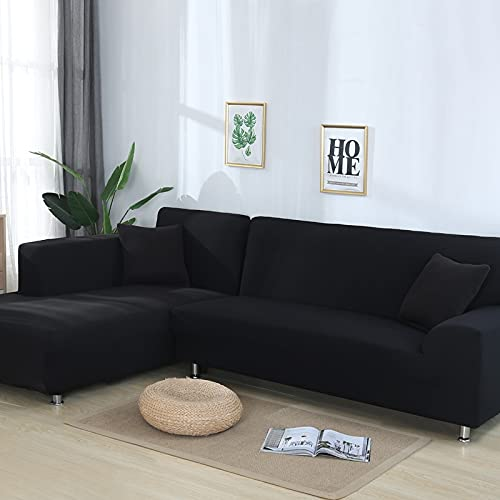WXQY Cubierta de sofá de Esquina de Color sólido para Sala