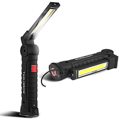 SunTop USB Recargable LED COB Lámpara de Trabajo Linterna de Mano -...