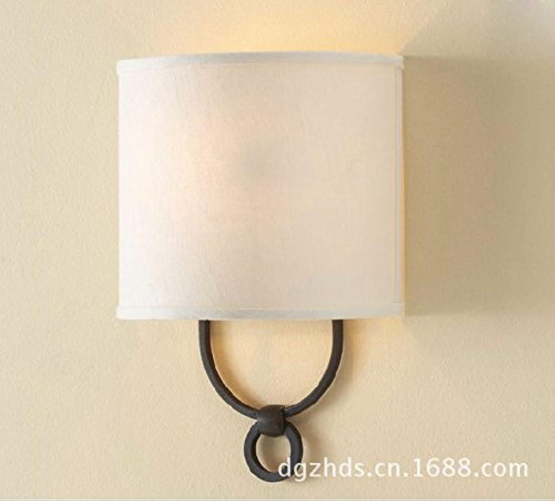 SiwuxieLamp Wandleuchte Modernes minimalistischeswarmes romantisches Nachttischlampen-Gewebe helles Hotelzimmer, kaltes Licht Halterung Licht