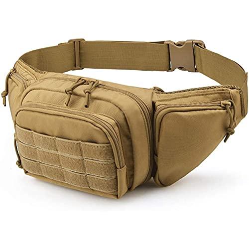 Eeauytr Bolsa de cinturón de almacenamiento al aire libre, paquete de Hip Bum EDC bolsa de cinturón al aire libre con correa ajustable para senderismo al aire libre, escalada, pesca, caza, caza