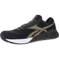 professional Reebok Nano 9 Cross Men's Sneakers Black / White / Gold US 7.5M