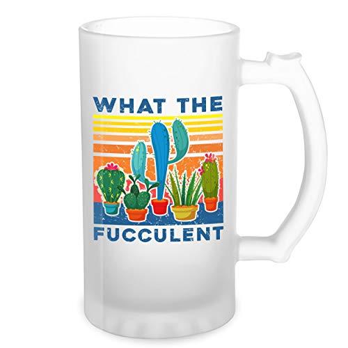 What The Fucculent Sexy Transparente taza de Stein de la cerveza 0.5L