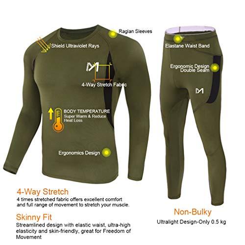 Conjunto de ropa interior térmica para hombre, calzoncillos largos deportivos para hombre, traje de compresión de invierno para esquiar y correr.
