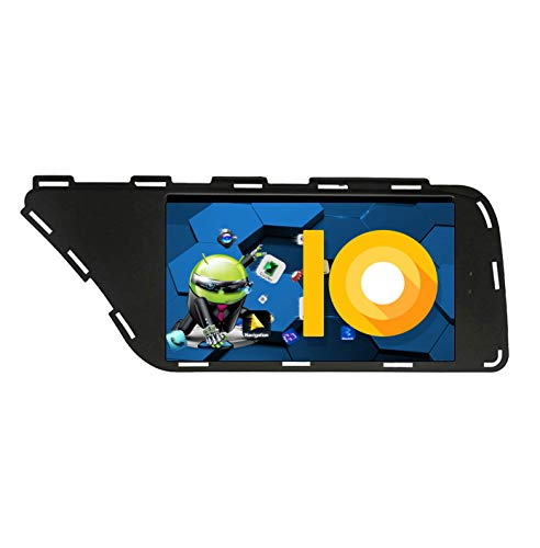 ZWNAV 7 Pulgadas Andriod 9.0 Doble DIN Car Stereo Navi Bluetooth GPS Navigation para Audi A5 / A4 / S4 / RS4 (B8) 2007-2016 Unidad de Control del Volante WiFi USB Carplay Mirror Link
