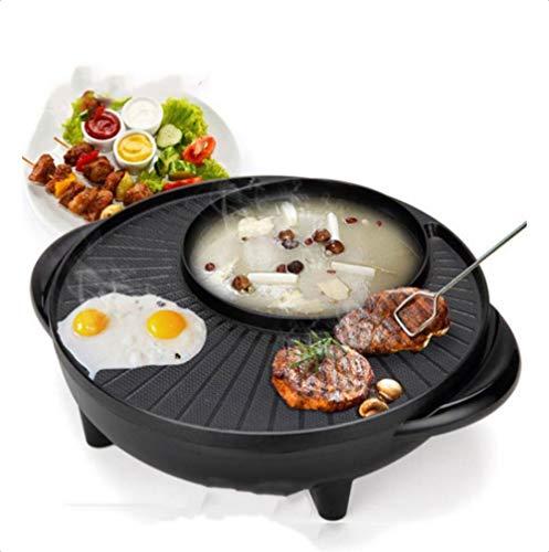 Haushalts-Multifunktionsgrill-Bratpfanne Dual-Purpose-Barbecue-Hot-Pot Eintopf-Elektro-Hot-Pot-Elektro-Backform-Europäische Vorschriften