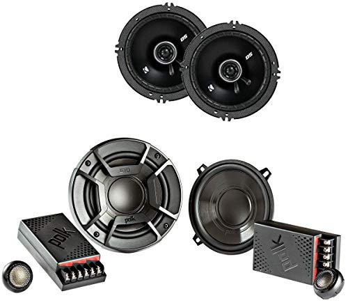 "Polk Audio 5.25"" 300 Watt 2 Way + Kicker 6.5"" 240 Watt 2-Way Car Audio Speakers -  DB5252 + 43DSC6504"