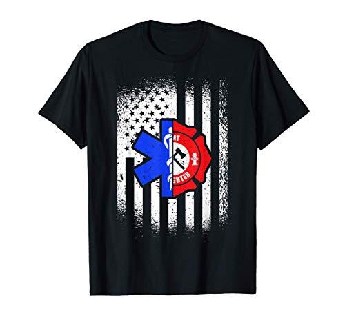 EMT American Flag First Responder Paramedic T-Shirt