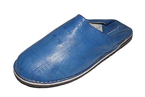 Marrakech Accessoires Orientalische Leder Schuhe Pantoffeln Hausschuh Slipper - Herren/Damen/Unisex - 905586-0013, Schuhgrösse:42