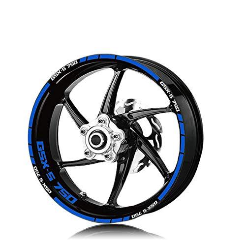 Qwjdsb para Suzuki GSX-S750, Pegatina Reflectante para Rueda de Motocicleta y Pegatinas con el Logotipo de llanta, calcomanías de protección para decoración de neumáticos, calcomanías de Motocicleta