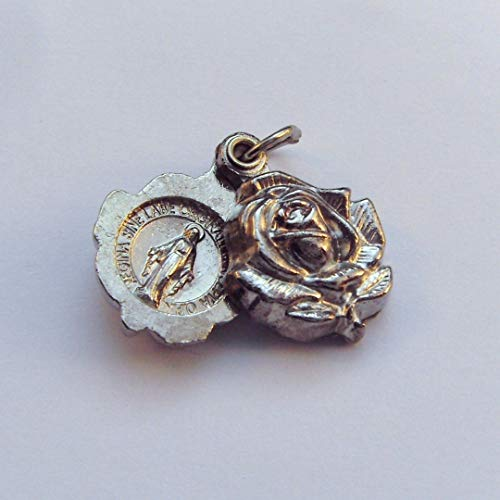 R Heaven Stieg Schieberegler wundertätige Medaille Anhänger - Farbe Silber Metall 2cm [Schmuck]