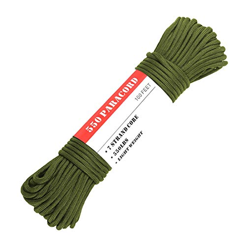 Trexi Paracord Cord with 250/kg Certified Load US Mil-Spec 5040//H Type III//100/m Spool//550/Cord Paracord Parachute 7/strands Core