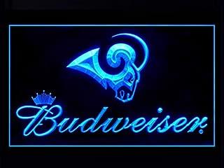 Los Angeles Rams Budweiser Led Light Sign