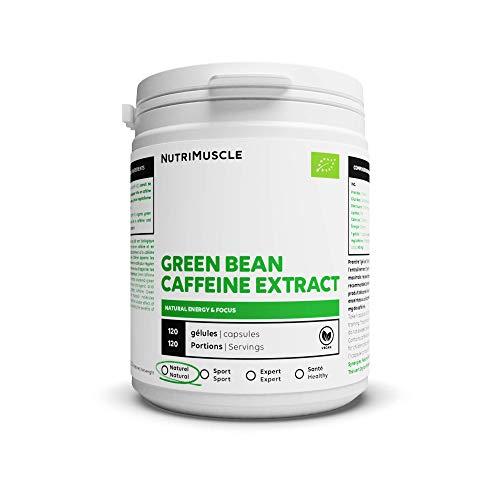 Booster Bio de Café Vert   100% café non torréfié • Riche en caféine naturelle & acide chlorogénique • Antioxydant • Vegan • Concentration • Musculation & Fitness   Nutrimuscle   120 Gélules