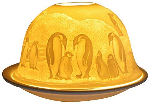 Him Antarctic Cristal/portavelas candelabros, Cerámica, Multicolor, 12x12x8 cm