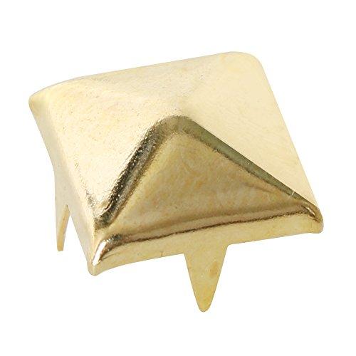TRIXES Tachuelas de pirámide 100 piezas para prendas de vestir con remache de níquel para cinturones, bolsos...