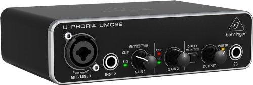 Interfaces de audio BEHRINGER U-PHORIA UMC22 USB