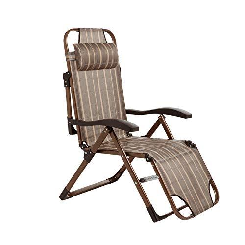Klappstuhl Aus Metall, Tragbare Stoffliege Verstellbare Belüftung Lounge Chair Bürobalkonstuhl 171 * 63CM(Size:171 * 63CM)