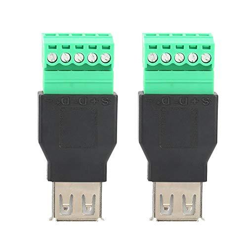 2 unidades de baja frecuencia de alta eficiencia Quicklink libre de soldadura tipo A hembra USB Terminal adaptador convertidor