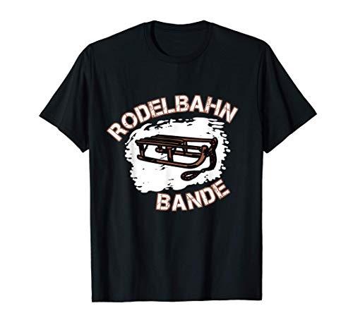 Schlitten und Rodel Rodelbahn Bande T-Shirt